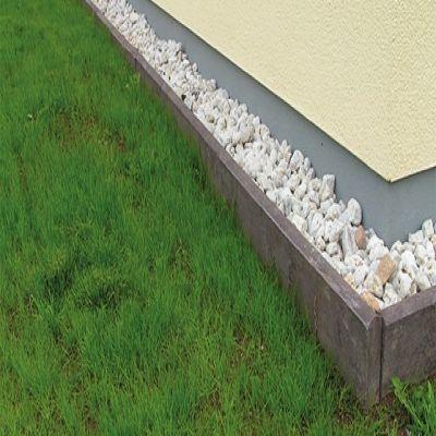 Kantsvelle i vedligeholdelsesfri genbrugsplast i grå eller brun