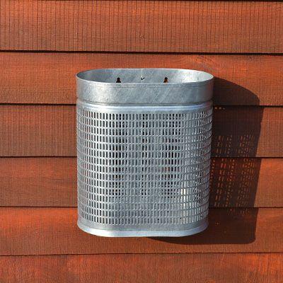 20 og 25 liter affaldskurv i galvaniseret stål til vægmontage eller stativ