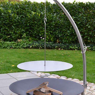 Vikingepande ø50 cm og ø60 cm i jern eller rustfri stål til bålplads