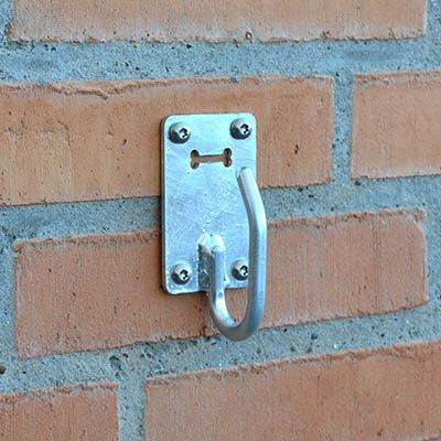 ROBUST krog til hundesnor i galvaniseret stål til væg