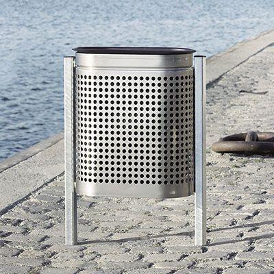 PRO udendørs affaldskurv på fritstående stativ eller ophæng