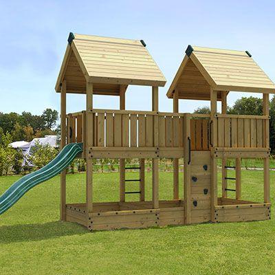 PRO-S4 legeplads med tårne, sandkasser, mv.