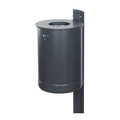 PREMIUM rund affaldsbeholder med låg og stander