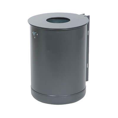 35 og 50 liter affaldsbeholder med låg og inderspand til væg eller søjle
