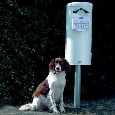 ROBUST hundeposestativ med inderspand