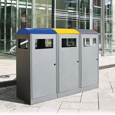3x90 liter affaldsbeholder til kildesortering