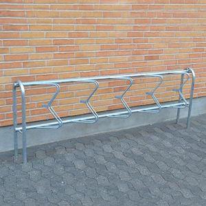 45 graders cykelstativ i galvaniseret stål til væg eller nedstøbning
