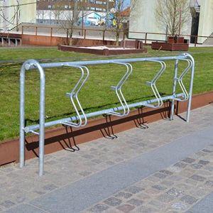 Galvaniseret cykelstativ til væg eller fritstående til nedstøbning