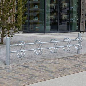 Galvaniseret cykelstativ til væg eller nedstøbning