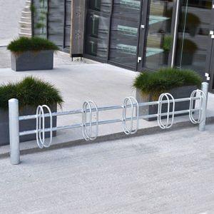 PRO I galvaniseret cykelstativ til væg eller nedstøbning
