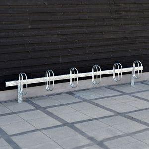 PLUS bom galvaniseret cykelstativ til nedstøbning eller påboltning