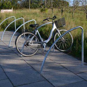 Sheffield cykelbøjle og cykellænestativ i stål til fastlåsning af cykel