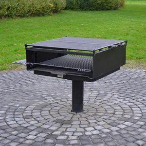L-1500 stor shelter grill med justerbar rist