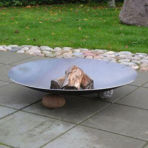 Ubehandlet bålfad i rå stål med diameter på 60, 80, 100 og 120 cm