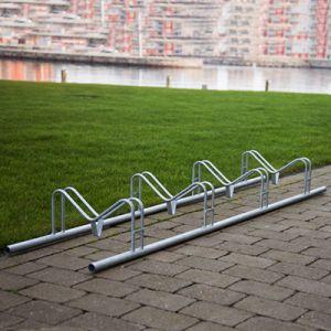 CLASSIC jord liggende cykelstativ til 4 cykler