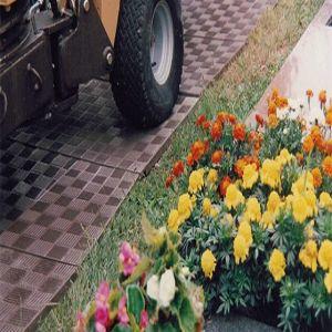 Køreplader i brun genbrugsplast