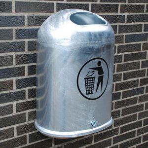 ROBUST 45 liter skraldespand i stål til ophæng på væg eller søjle