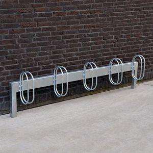 BOM cykelstativ i galvaniseret stål til nedstøbning, væg eller boltning